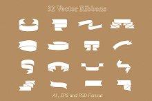 32 Vector Ribbon objects