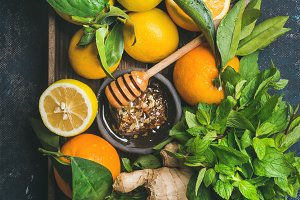 Ingredients for warming winter tea