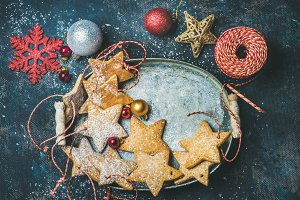 Christmas star shaped cookies