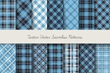 Tartan seamless vector patterns