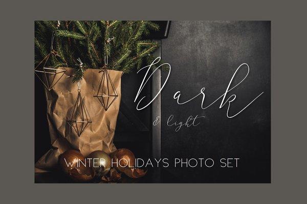65 Dark&light Winter holidays photo…
