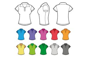 Female Polo Shirts Set