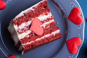 Red velvet cake for Valentine