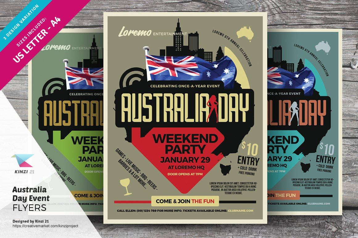 day flyer templates flyer templates on creative market