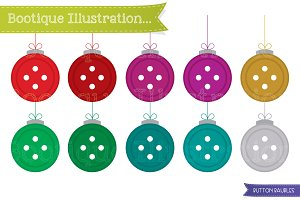 Christmas Button Decorations