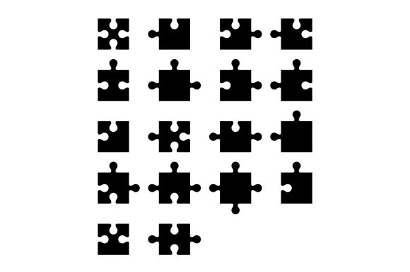 Jigsaw Puzzle Blank Parts