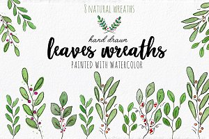 Beautiful 8 Watercolor Wreaths