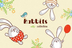 Lovely Rabbits graphic collection