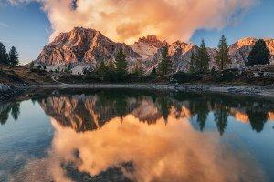 Sunset on Lake Limides TIF