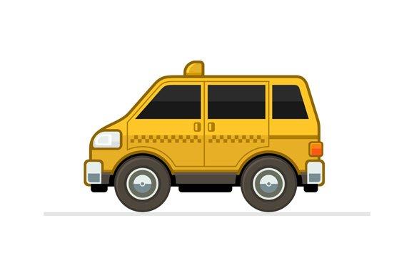 Taxi Car And Taxi Logo Set