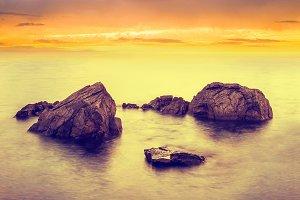 Minimalist seascape at long exposure