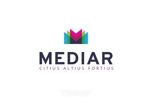 Mediar Abstract Letter M Logo