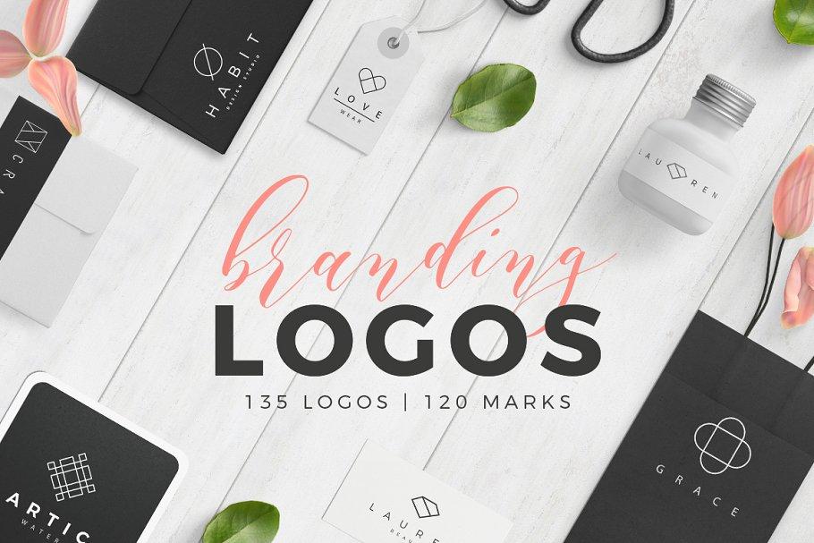 504d893e7b Trendy Branding Logos ~ Logo Templates ~ Creative Market