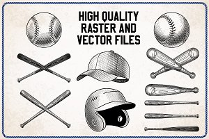 Vector Baseball Illustrations