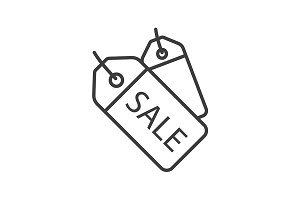 Sale badges linear icon. Vector