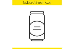 Beer can icon. Vector