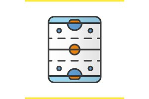 Ice hockey rink icon. Vector