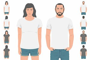 T-shirt Men and women back and front