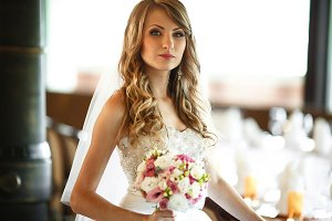 Bride looks gorgeous