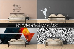 Wall Mockup - Sticker Mockup Vol 195