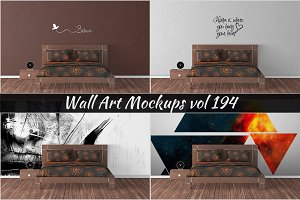 Wall Mockup - Sticker Mockup Vol 194