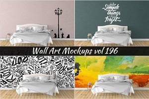 Wall Mockup - Sticker Mockup Vol 196