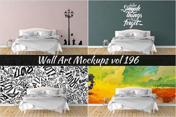 Wall Mockup - Sticker Mockup Vol 196