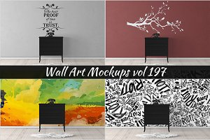 Wall Mockup - Sticker Mockup Vol 197