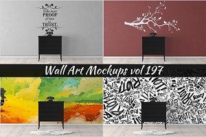 Wall Mockup - Sticker Mockup Vol 197