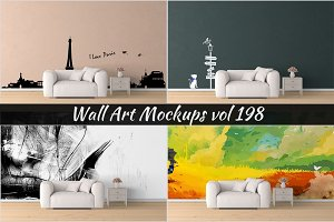 Wall Mockup - Sticker Mockup Vol 198