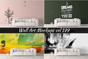 Wall Mockup - Sticker Mockup Vol 199