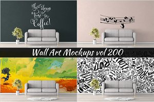 Wall Mockup - Sticker Mockup Vol 200
