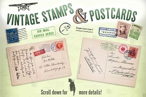 Vintage Stamps & Postcards
