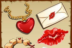 Romantic vector set