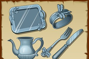 Classic silver dining tableware