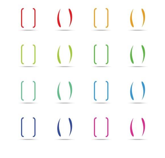 Color Curly Brackets Braces Set
