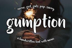 Gumption - handwritten font