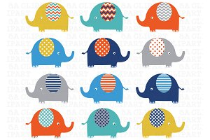 Elephants Clip Art