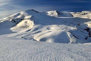 Snow-capped landscape