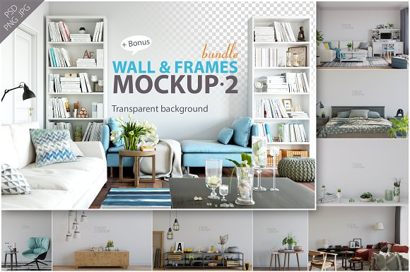 Free Wall & Frames Mockup - Bundle Vol. 2