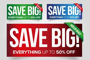 Save Big - Sale banner set