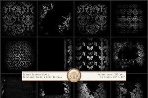 Elegant Garden Black & White pattern