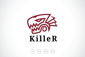 Killer Rex Logo Template