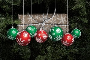Christmas Balls Hang Vector