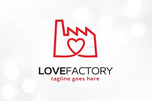 Love Factory Logo Template