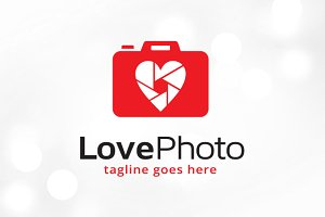 Love Photo Logo Template