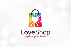 Love Shop Logo Template
