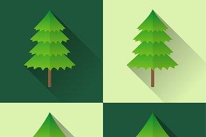 Pine tree icons illustration