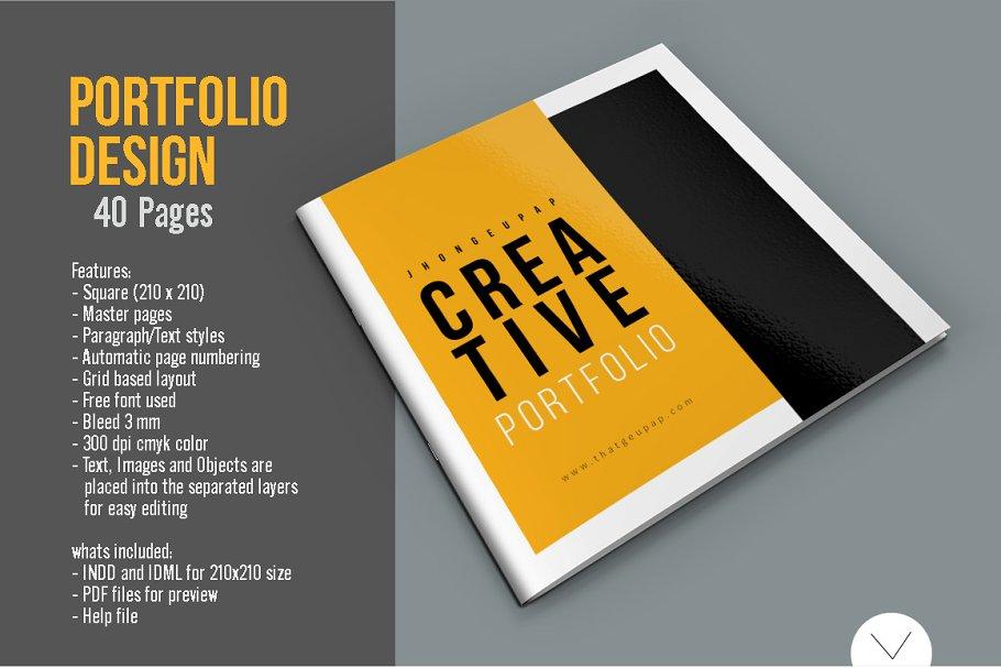 Graphic Design Portfolio Template Creative Indesign Templates Creative Market,Blueprint Layout Cottage Garden Design