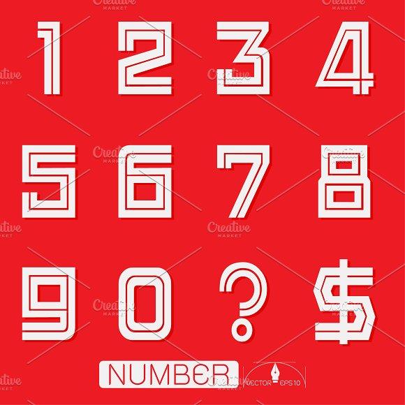 Numbers set illustration